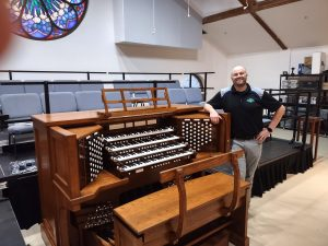 """""""The RLX-90, designed by acclaimed organist Rudy Lucente, with the new APEX technologies have taken the Allen Organ Company to unimaginable heights in the world of digital organ audio production. The organ can produce such realistic sounds that the auditory line separating digital organs and pipe organs is virtually gone. With the expansive capabilities of APEX, the realistic sounds are far beyond all expectations. I am constantly left speechless every time I play the instrument. In cooperation the with Allen Organ Company, this was all made possible due to the tireless efforts of the incomparable team of Brian Daggett, Ted Hayes, and the rest of Dunne Music in Florida. Everyone involved went above and beyond all imaginable actions to help give life to the project and see it to its final fruition. The Allen Organ Company and Dunne Music have created a product that will be a pinnacle instrument throughout the entire organ world.""""  Matthew Swingle Director of Music & Organist Faith Lutheran Church 